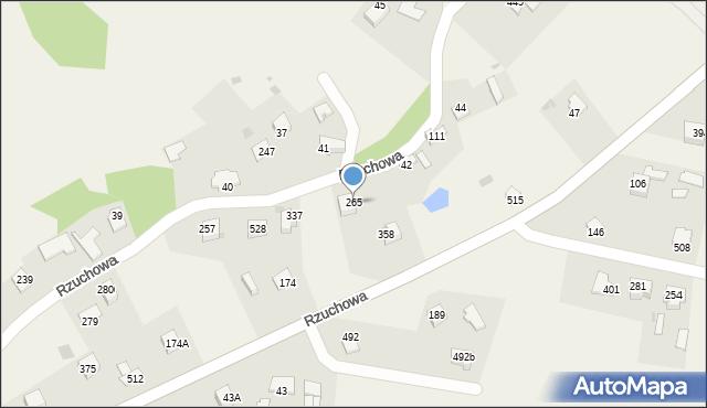 Rzuchowa, Rzuchowa, 265, mapa Rzuchowa