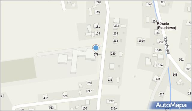 Rzuchowa, Rzuchowa, 278, mapa Rzuchowa