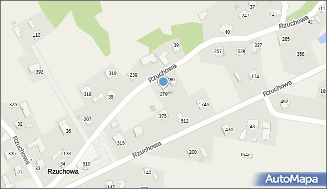 Rzuchowa, Rzuchowa, 279, mapa Rzuchowa