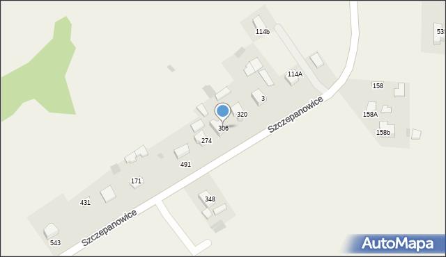 Rzuchowa, Rzuchowa, 306, mapa Rzuchowa