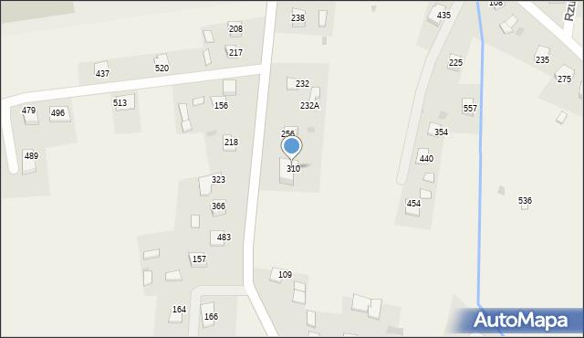 Rzuchowa, Rzuchowa, 310, mapa Rzuchowa