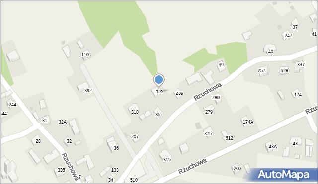 Rzuchowa, Rzuchowa, 319, mapa Rzuchowa