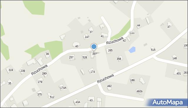 Rzuchowa, Rzuchowa, 337, mapa Rzuchowa