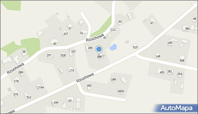 Rzuchowa, Rzuchowa, 358, mapa Rzuchowa