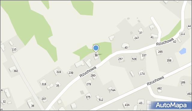 Rzuchowa, Rzuchowa, 39, mapa Rzuchowa