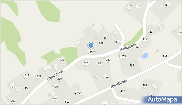Rzuchowa, Rzuchowa, 40, mapa Rzuchowa