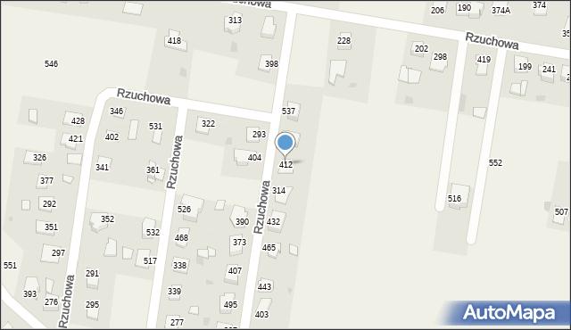 Rzuchowa, Rzuchowa, 412, mapa Rzuchowa