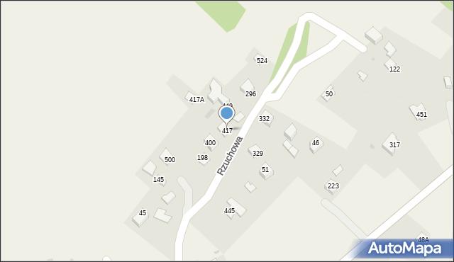 Rzuchowa, Rzuchowa, 417, mapa Rzuchowa
