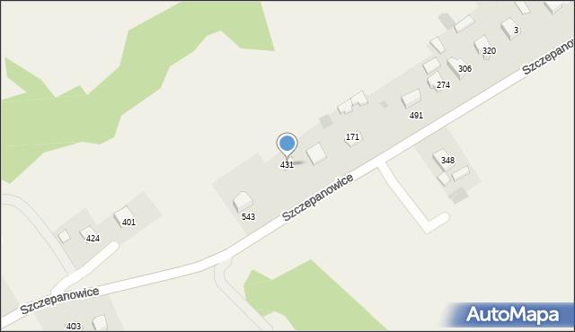 Rzuchowa, Rzuchowa, 431, mapa Rzuchowa