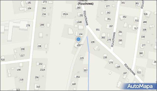 Rzuchowa, Rzuchowa, 435, mapa Rzuchowa