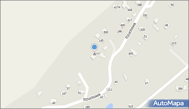 Rzuchowa, Rzuchowa, 45, mapa Rzuchowa