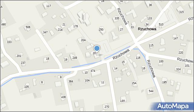 Rzuchowa, Rzuchowa, 453, mapa Rzuchowa