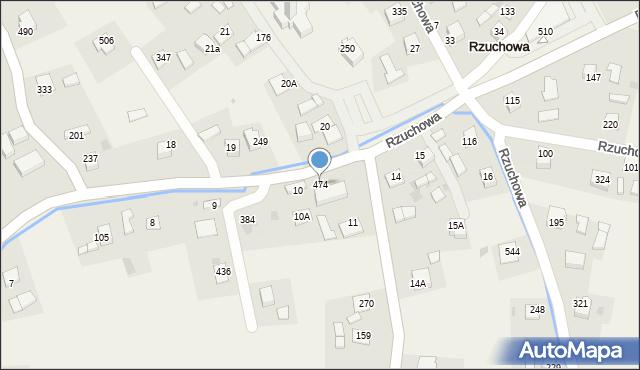 Rzuchowa, Rzuchowa, 474, mapa Rzuchowa