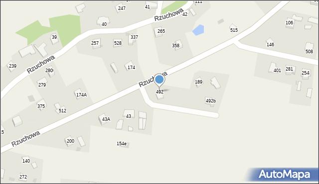 Rzuchowa, Rzuchowa, 492, mapa Rzuchowa