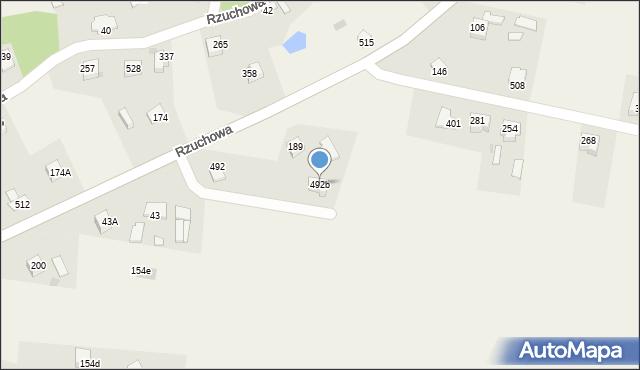 Rzuchowa, Rzuchowa, 492b, mapa Rzuchowa