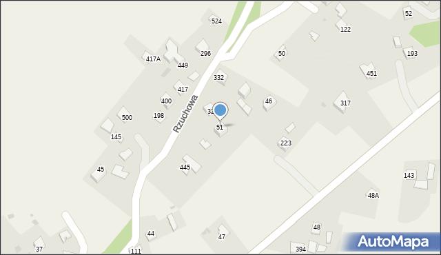 Rzuchowa, Rzuchowa, 51, mapa Rzuchowa