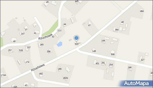 Rzuchowa, Rzuchowa, 515, mapa Rzuchowa