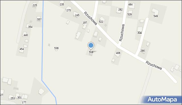 Rzuchowa, Rzuchowa, 518, mapa Rzuchowa