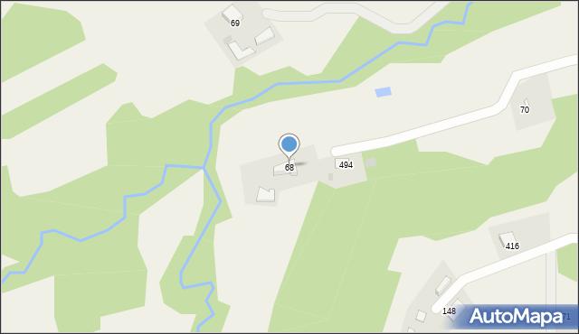Rzuchowa, Rzuchowa, 68, mapa Rzuchowa