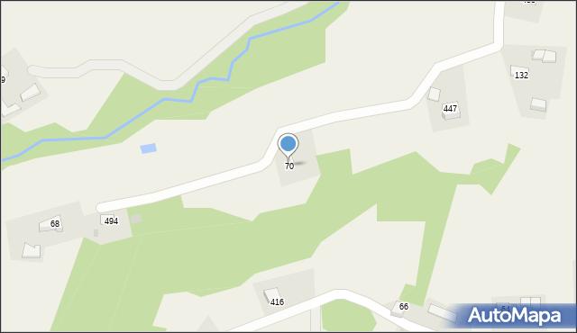 Rzuchowa, Rzuchowa, 70, mapa Rzuchowa