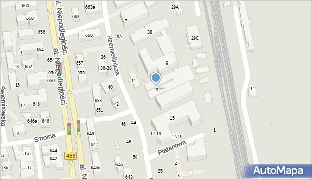 Sopot, Rzemieślnicza, 13, mapa Sopotu