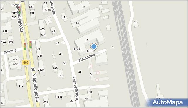Sopot, Rzemieślnicza, 17, mapa Sopotu