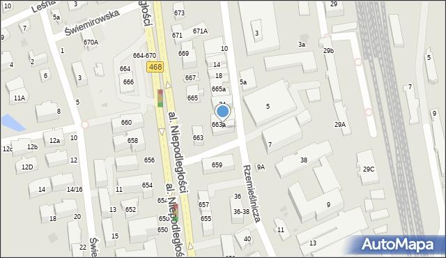 Sopot, Rzemieślnicza, 28, mapa Sopotu