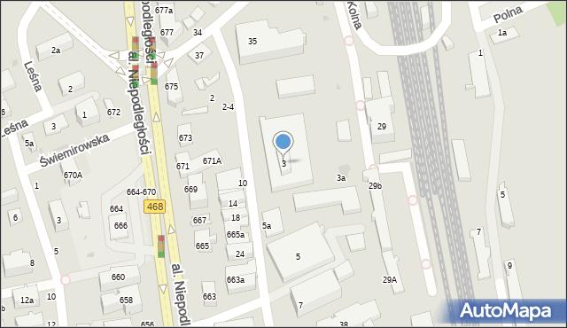 Sopot, Rzemieślnicza, 3, mapa Sopotu