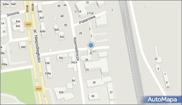 Sopot, Rzemieślnicza, 31, mapa Sopotu