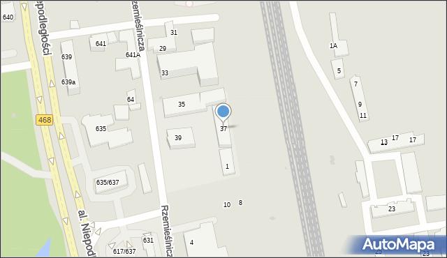Sopot, Rzemieślnicza, 37, mapa Sopotu