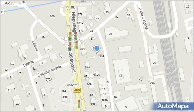 Sopot, Rzemieślnicza, 4, mapa Sopotu