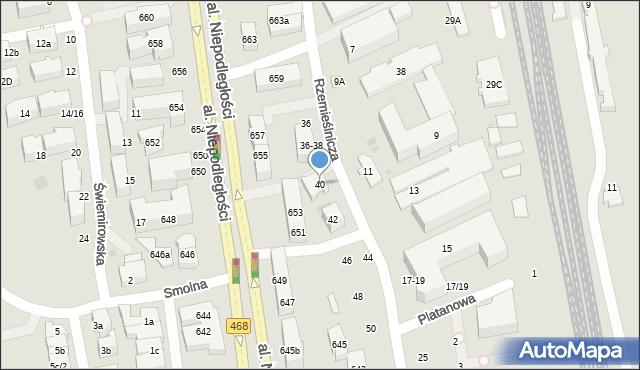 Sopot, Rzemieślnicza, 40, mapa Sopotu