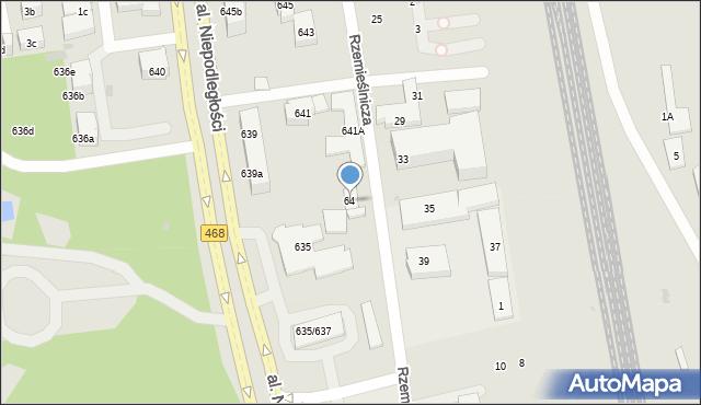 Sopot, Rzemieślnicza, 64, mapa Sopotu