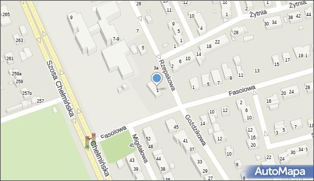 Toruń, Rzepakowa, 1, mapa Torunia