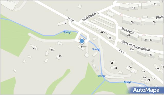 Ustrzyki Dolne, Rzeczna, 17, mapa Ustrzyki Dolne