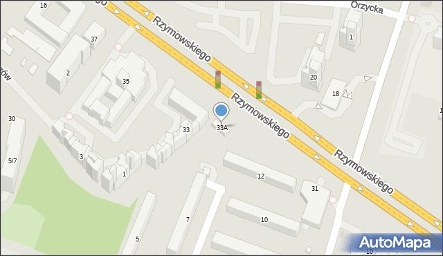Warszawa, Rzymowskiego Wincentego, 33A, mapa Warszawy
