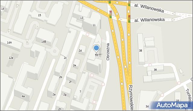 Warszawa, Rzymowskiego Wincentego, 53, mapa Warszawy