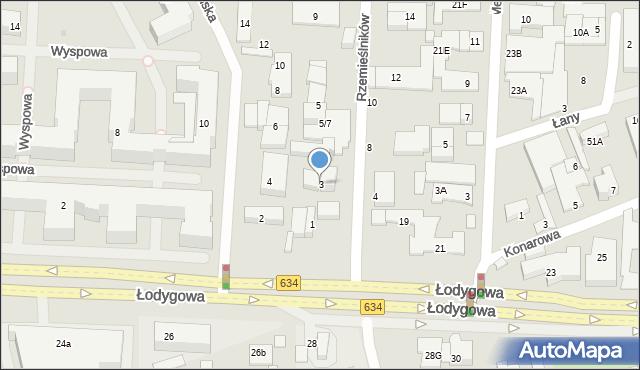Warszawa, Rzemieślników, 3, mapa Warszawy
