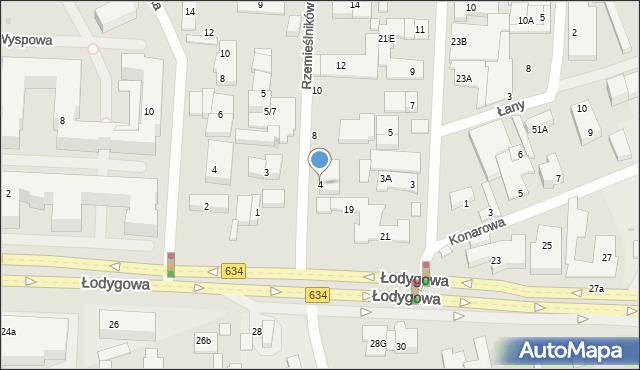 Warszawa, Rzemieślników, 4, mapa Warszawy