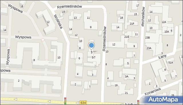 Warszawa, Rzemieślników, 5, mapa Warszawy