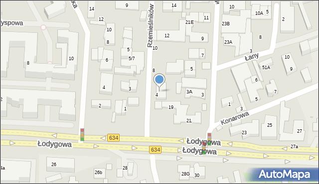 Warszawa, Rzemieślników, 6, mapa Warszawy