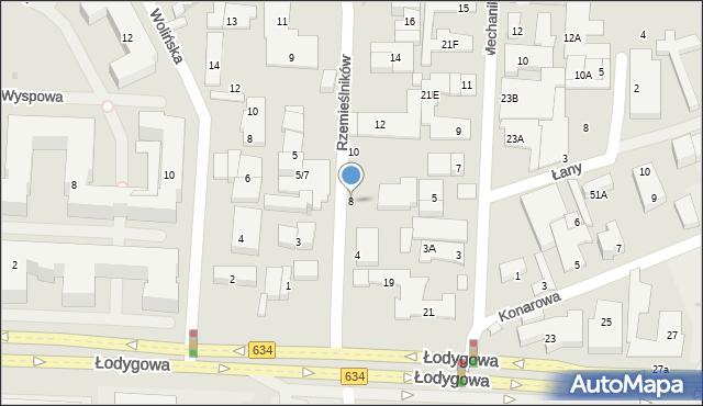 Warszawa, Rzemieślników, 8, mapa Warszawy