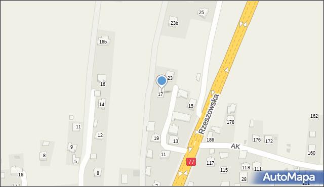 Żurawica, Rzeszowska, 21, mapa Żurawica