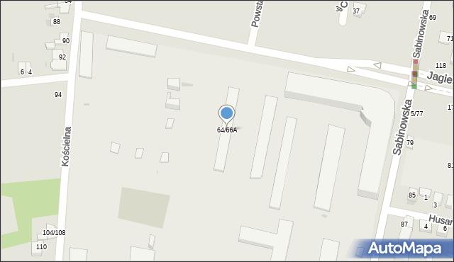 Częstochowa, Sabinowska, 64/66A, mapa Częstochowy