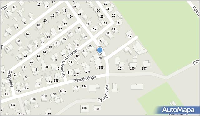Grudziądz, Sambora, 28, mapa Grudziądza