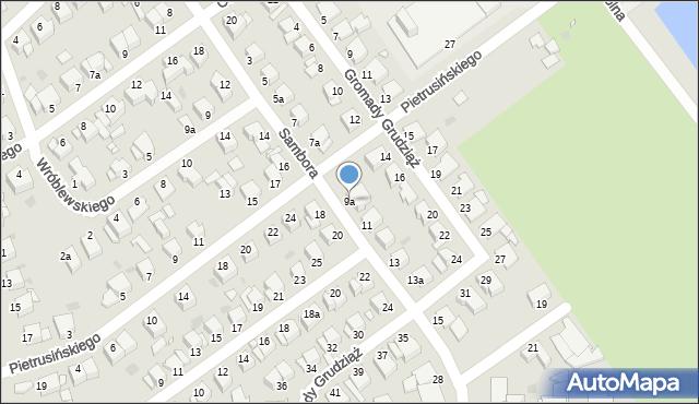 Grudziądz, Sambora, 9a, mapa Grudziądza