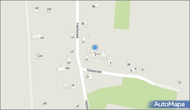 Jaworzno, Sasanek, 2, mapa Jaworzno