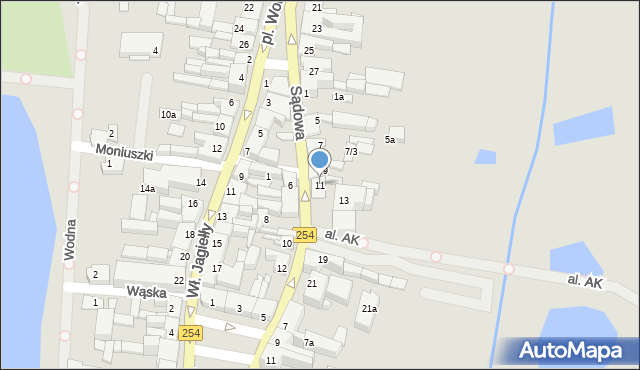 Mogilno, Sądowa, 11, mapa Mogilno