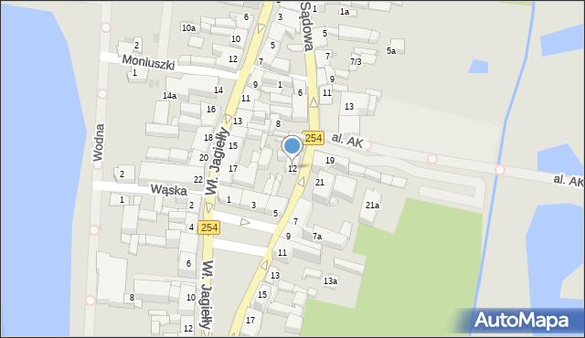 Mogilno, Sądowa, 12, mapa Mogilno
