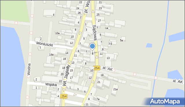 Mogilno, Sądowa, 6, mapa Mogilno
